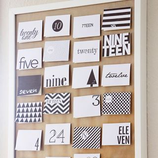 Adventskalender Freebie - Black and White - DIY