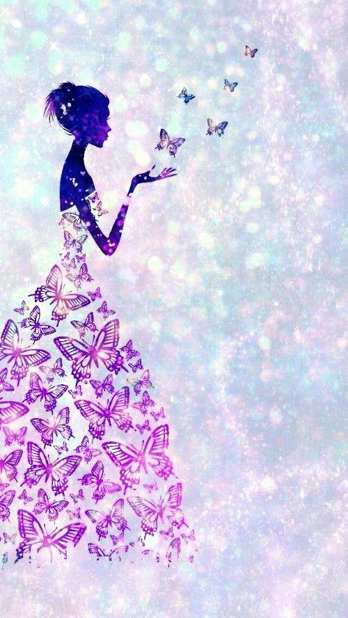 Glittery Butterfly Princess Made By Me Butterflies Fairy Butterfly Purple Girl Sparkles Wallpapers Backgrounds Gli Background S Wallpaper S Wallpaper