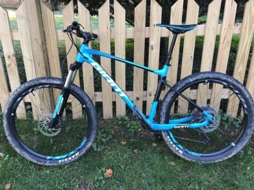 Buy 2018 Giant Fathom 1 L Blue Black White Used Bicycle Blue Black Black And White