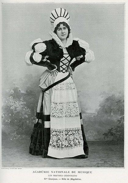 Louise Grandjean as Magdalena in Richard Wagner's opera Die Meistersinger von Nürnberg.