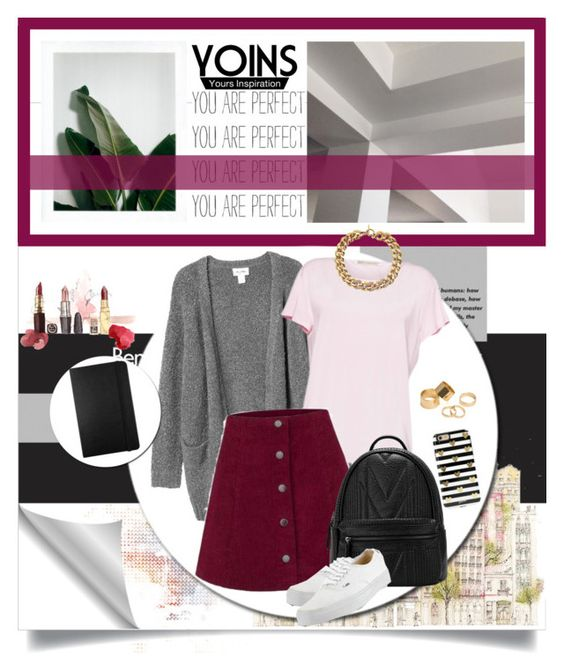 """YOINS"" by anastasia-ana ❤ liked on Polyvore featuring Monki, Moleskine, Vans, Sonix, Pieces, Michael Kors, yoins and yoinscollection"