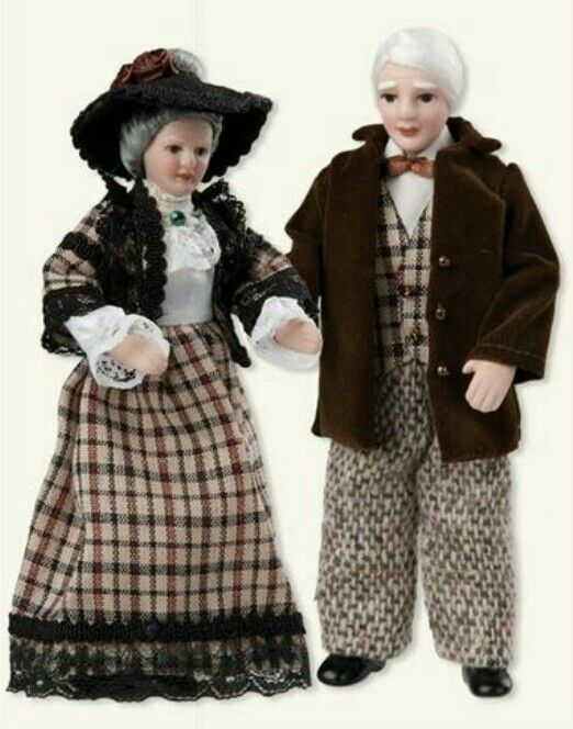 Grandparents Dollhouse Dolls (set of two) from Victorian Trading Co.