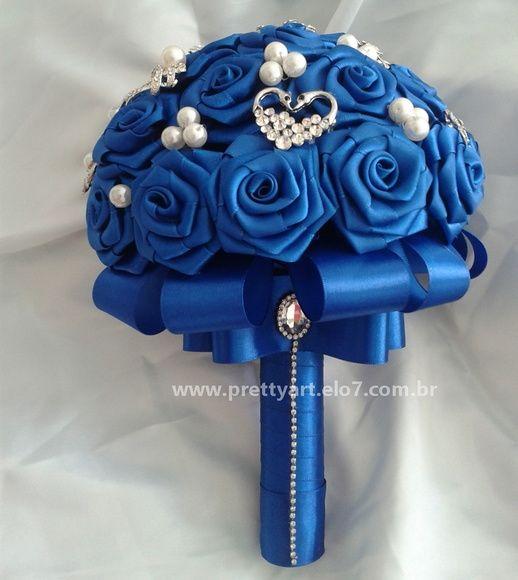 Buquê azul royal Tam. M