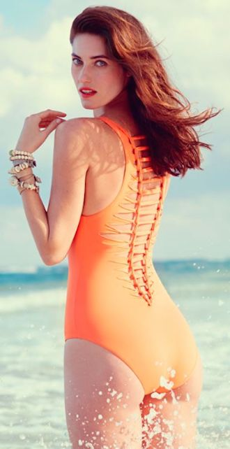 fun twist back one-piece swimsuit