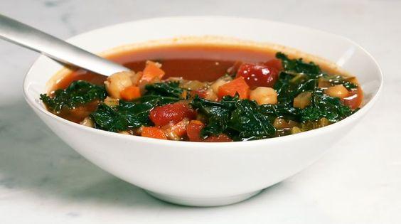 A Healthy Vegan Farro Minestrone Under 400 Calories on video.self.com