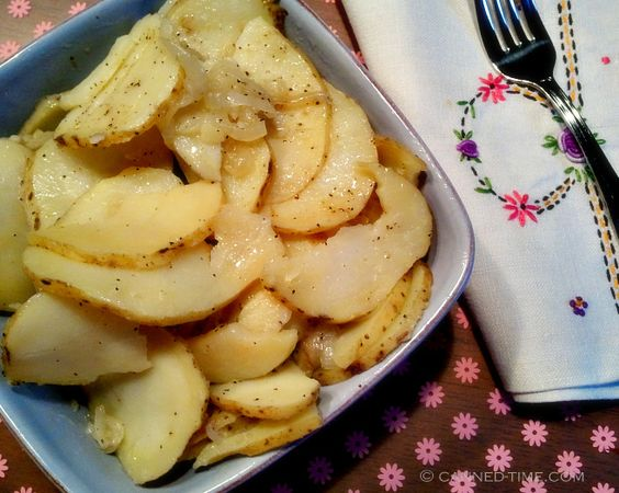 Stove Top Potatoes with Onion - Vegan, GF at Canned-time.com
