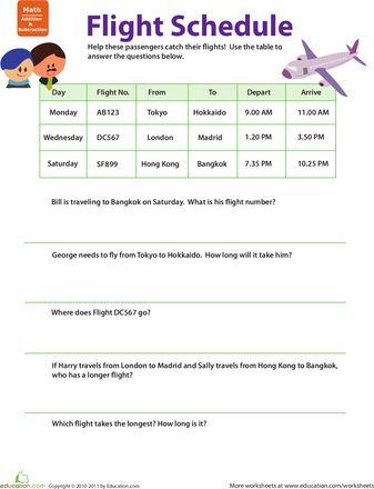 18 FREE ESL schedule worksheets