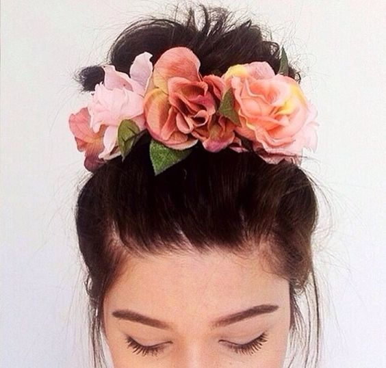 Flower Crown Bun