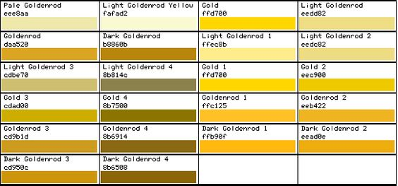 Gold Html Color Code 28 Images Color Codes Gold And