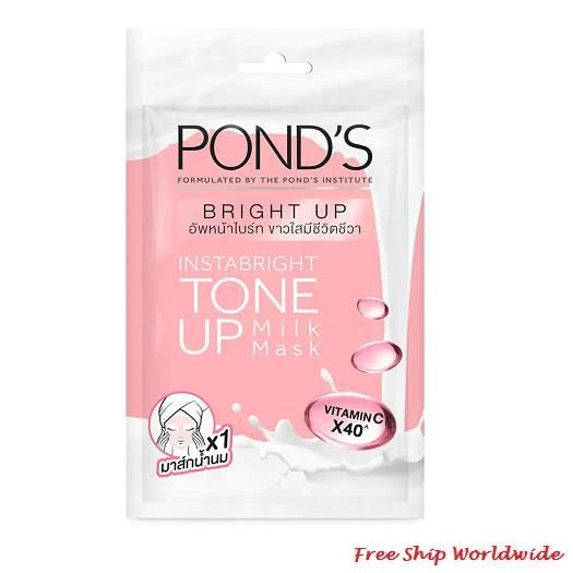 Pond S White Beauty Instabright Tone Up Milk Mask Vitamin C