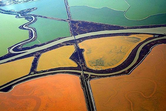 Saltscapes - Salzsee-Fotografie aus der Luft