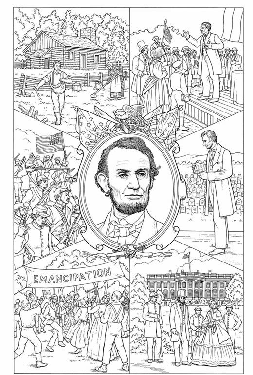 Abraham Lincoln Discovery Kit Coloring the past history