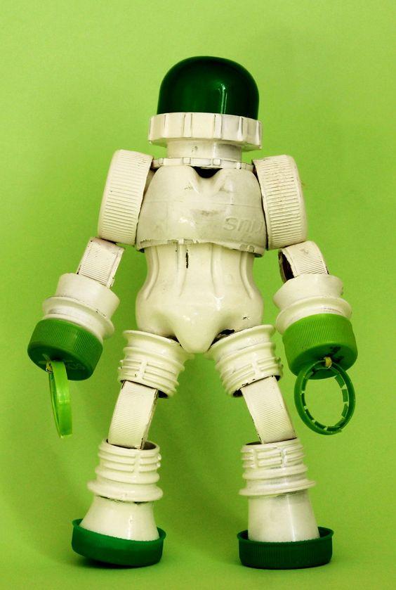 Bottle Robot #plastictoys