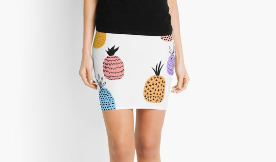 Colorful Pineapples skirt | by Libby Dash