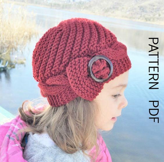 Knitting Pattern Hat Instant Download Knit Hat Pattern 2 6 Years