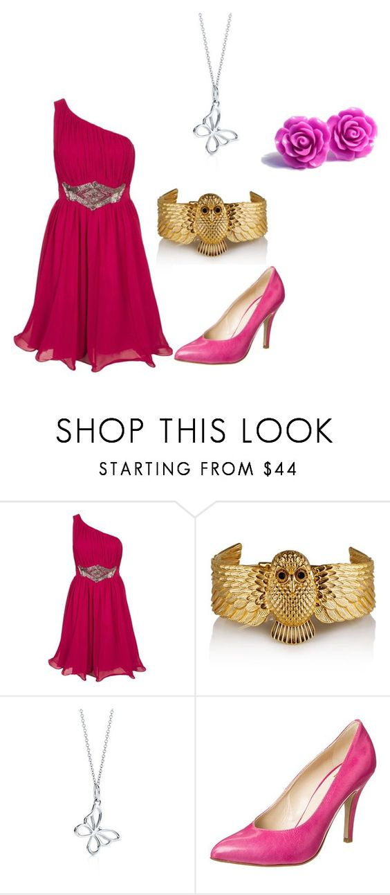 Prom night dress by meizcra-z on Polyvore featuring Little Mistress and Noë