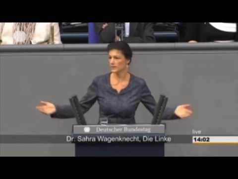Dr Sahra Wagenknecht warnt Merkel - YouTube