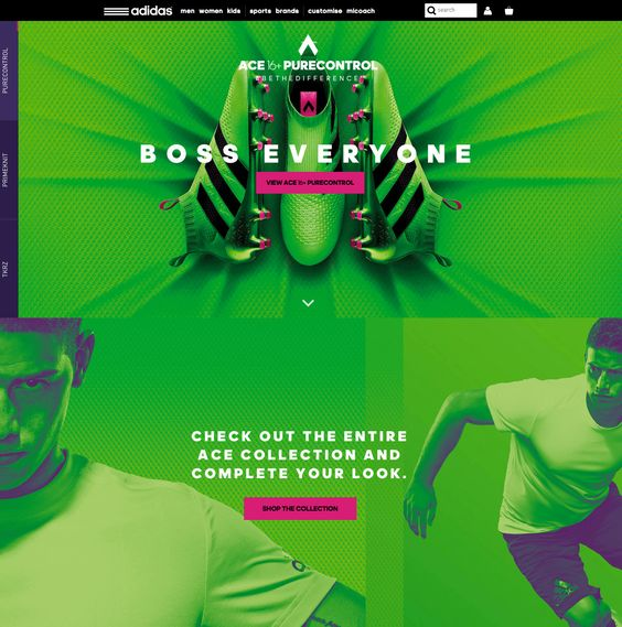 Addidas Colorful Website Design