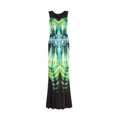 Roberto Cavalli Printed stretch-jersey gown
