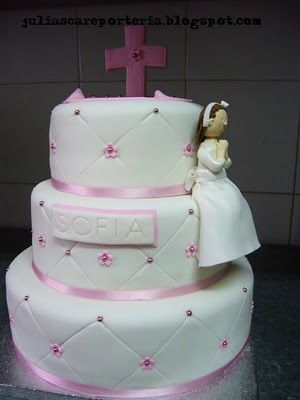 JuLiasCA Boutique de tartas: Tartas de Primera Comunión: Sweet, Communion Ideas, Communion Cakes, Cakes Cupcakes Cookies, Communion Bautizo, Communion Stuff, Carla Tartas, Comunion Communion