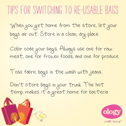 Switch to re-usable bags and remember these 5 tips to keep you #healthy and #happy during your shopping routines.