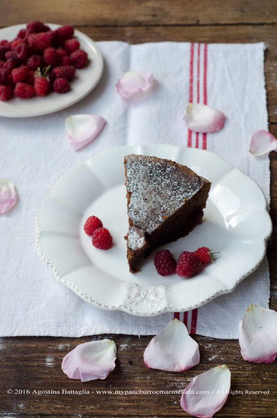 Torta cioccolato e lamponi…
