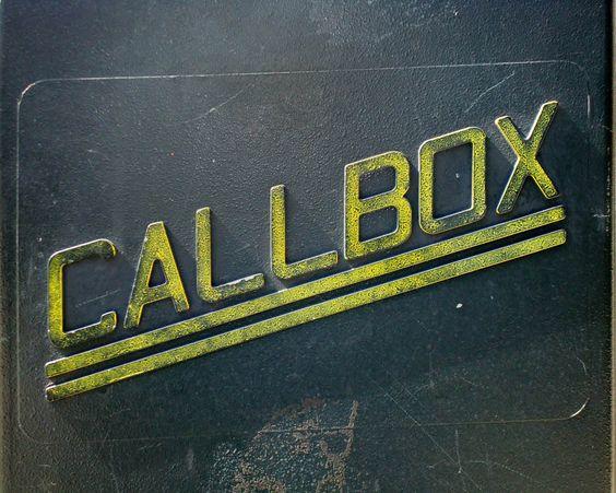 Callbox 8X10 print photograph typography