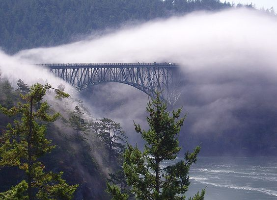 Deception Pass at the northern tip of Whidbey Island. This is a truly AMAZING place. And this photo is unbelievable!