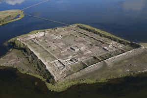 Archaeologists excavate unique medieval ruins at the center of a Siberian lake