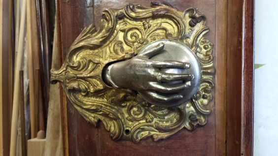 Antique Italian Pool Table. Hand detail.