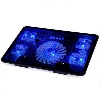 "NAJU 14""-17"" Laptop Cooler Cooling Pad - Ultra Slim Portable USB Powered (5 Fans)"
