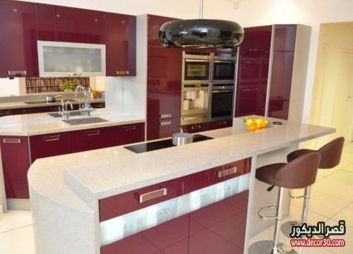 مطابخ عصرية تصاميم مطابخ حديثة 2019 قصر الديكور Modern Kitchen Set Modern Kitchen Design Kitchen Design