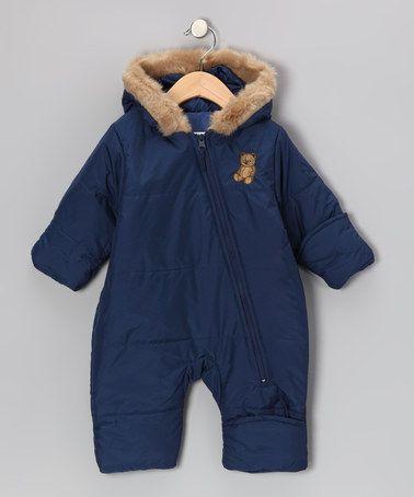 Navy Teddy Bear Bunting - Infant by ARCTIX on zulily today!    For my nephew, Jaxon...