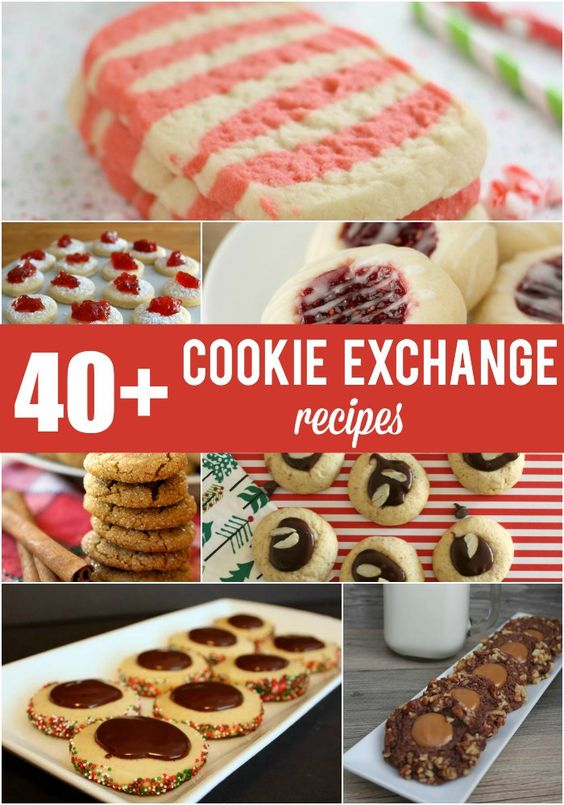 40+ cookie exchange recipes for holidate inspiration... from Messes to Memories
