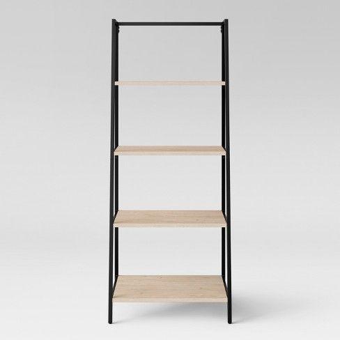 3 Cases Office Loft 60 Loring 4 Shelf Bookcase Vintage Oak Project 62 Target In 2020 Bookcase Shelves 4 Shelf Bookcase