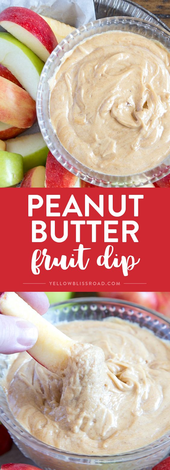 Creamy Peanut Butter Fruit Dip - Delicious, protein packed dessert dip ...