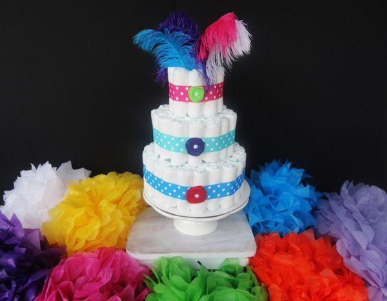 cute diaper cake