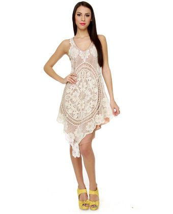 Carefree Capers Crochet Lace Dress
