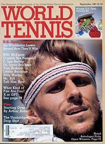 September 1981 World Tennis Magazine- U.S. Open Special Issue- Bjorn Borg Cover