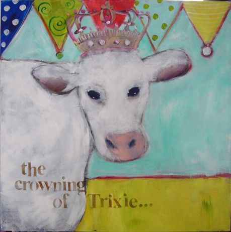 The Crowning of Trixie by ipaintpictures on Etsy, $25.00