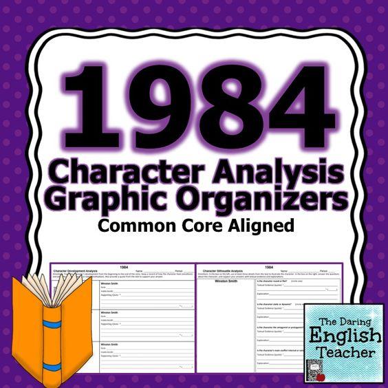 1984 Character Analysis Graphic Organizers Graphic organizers - character analysis