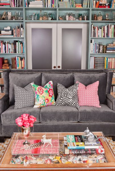 Society Social Official Photography June 2012 | Madeline Nailhead Sofa, Oh La La Links Noir Pillow, Peacocks and Petals Pillow, Zsa Zsa Zebra Pillow, Oh La La Links Berry Pillow