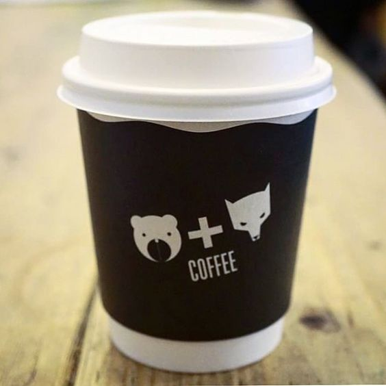 Bear  Wolf Cafe London. Submission from @eatnlondon #coffeecup