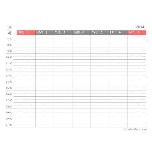 Calendar Templates Weekly Calendar Template And Appointment
