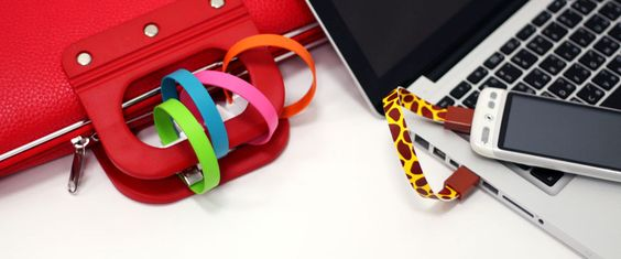 Wearable magnetic micro usb & iphone/ipod cable by Mohzy. What a super-convenient idea!!