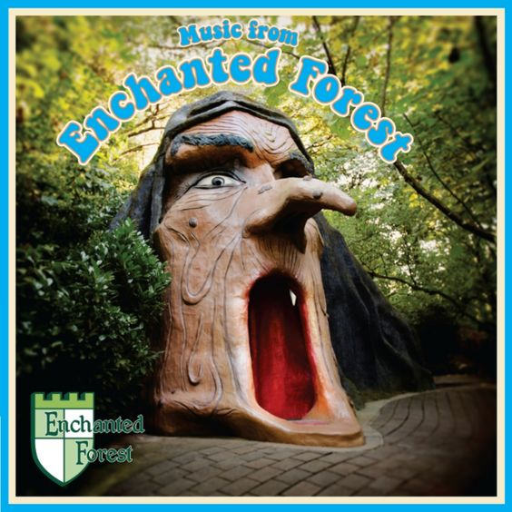 """this is such a weird and wonderful record. I wish more them park soundtrack, etc. stuff like this. from the label: """"Music From Enchanted Forest for the first time on limited edition cyan blue vinyl with liner notes and sounds never before heard beyond the park's wooded gates!"""""""