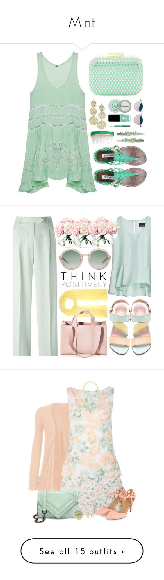 """""""Mint"""" by mysnowdrop ❤ liked on Polyvore featuring skirts, tutu skirts, embellished skirt, green tutu, ted baker, green skirt, Jessica McClintock, JINsoon, Pilot and L. Erickson"""