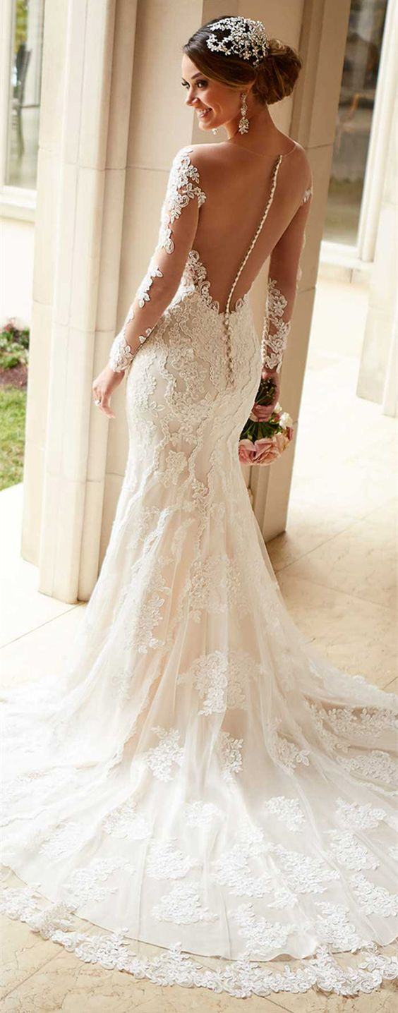 illusion low back details stella york wedding dresses style 6176: