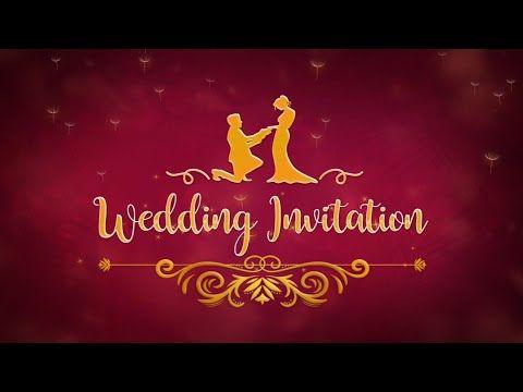 Digital Wedding Invitation Video In Royal Look Save The Date Vg 714 Yo Wedding Invitation Video Digital Invitations Wedding Digital Wedding Invitations