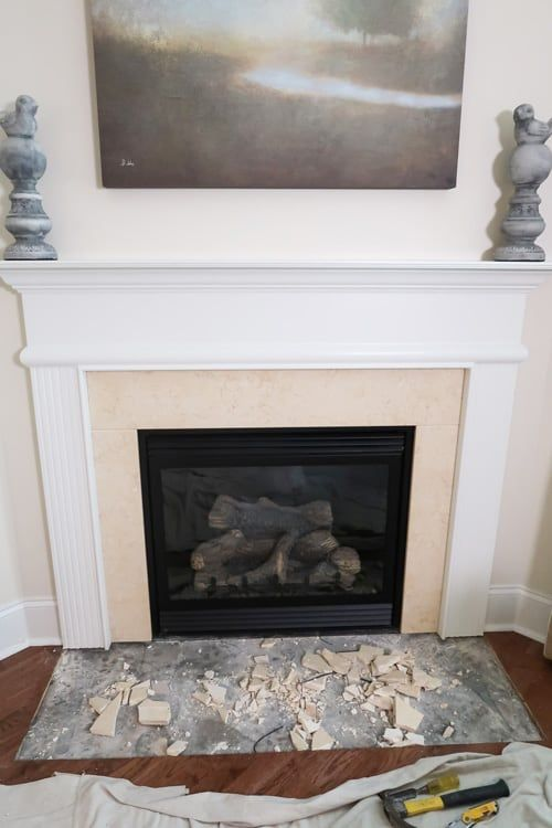 Tile Over A Marble Fireplace Surround, Can You Tile Over A Marble Fireplace Surround